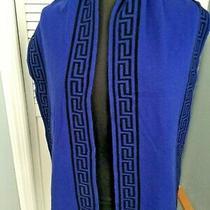 Original Versace for H & M Blue Black Wool/cashmere Scarf Photo