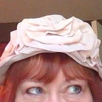 Original Vintage Blush Pink Organza Hat Photo