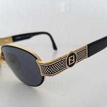 Original Vintage Fendi Like Versace Sunglasses mod.fs 306 col.201 Round Black Photo