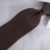 Original Vintage Gianni Versace Brown Skinny Silk Tie 58