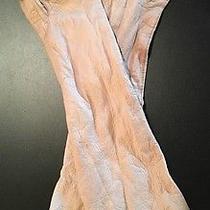 Original Vintage Ladies Real Kid 100% Pure Silk Opera Gloves Blush 7 1/2 Photo