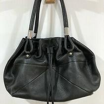 Oroton Black Pebbled Leather Large Gather Tote Hobo Shoulder Bag Rrp 695 Mint Photo