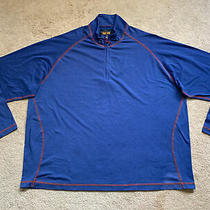 Orvis Trout Bum Drirelease 1/4 Zip Pullover Shirt Sweatshirt Blue Xxl Msrp 89 Photo