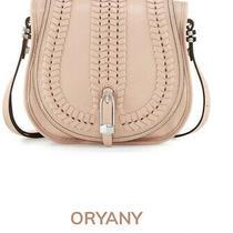 Oryany Blush Pink Oebbled Leather Saddle Crossbody Purse Photo