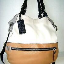 Oryany Sydney Hobo Pebble Leather Color Block Tote Bag Purse White Multi  Nwot Photo
