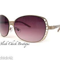 Osca De La Renta Brown Metal Frames Women's Sunglasses 3026-278 Butterly Style Photo