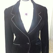 Oscar De La Renta 14 Black Velvet Jacket Blazer Fits S or M Small or Medium  Photo