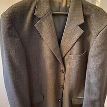 Oscar De La Renta 3 Button Purewool Blazer/jacket Mens Size 44r Blue/green Tweed Photo
