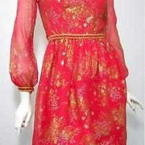 Oscar De La Renta 70s Vintage Dress Photo