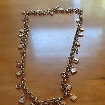 Oscar De La Renta Antiqued Gold Keylock Keys Heart Charm Chain Belt New Sz S/m Photo