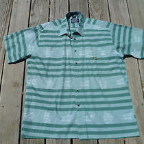 Oscar De La Renta Club 100% Cotton Shirt / Men's Large / Nautical Theme / Nice Photo