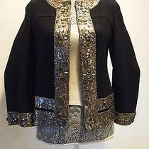 Oscar De La Renta Couture High End Jacket Blazer Coat  S/m Photo