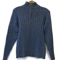 Oscar De La Renta Men's Pullover Sweater 1/4 Zip Blue Size Xl Photo