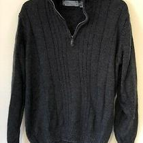 Oscar De La Renta Mens Size Large Gray Long Sleeve Pullover Sweater Photo