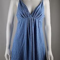 Oscar De La Renta Pink Label Women's Blue Print Night Gown Pajamas Sz M Photo