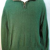 Oscar De La Renta Pullover Half Zipper Sweater Mens Medium Green Free Shipping Photo