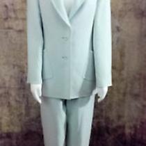 Oscar De La Renta Suit Size 8 Sea Foam 100% Wool High End Vintage Photo