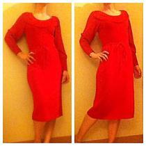 Oscar De La Renta Vintage Knit Red Dress Photo