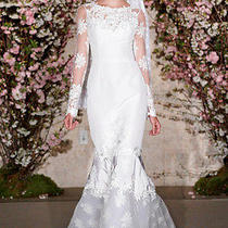 Oscar De La Renta Wedding Dress 33n37 Size 6 Photo