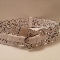 Oscar De La Renta White Leather Laser Cut Corset Belt Small Bnwt Rt 685 Photo