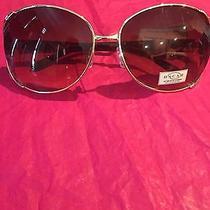 Oscar De La Renta Women's Gold Frames Black Gradient Lenses Sunglasses New Photo