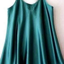 Oscar De La Renta Womens Nightie Emerald Green Size Large Photo