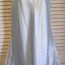 Oscar Dela Renta Nightgown Shimmery Blue Medium Short Nightie Photo