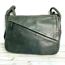 Osgood Marley Feel the Difference Gray Leather Messenger X-Body Shoulder Bag Photo