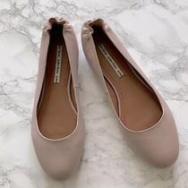 & Other Stories Leather Blush Pink Round Toe Shoes in Black Sz 40 10 Ballet Fkat Photo