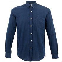 Our Legacy - Indigo Dyed Cotton Blue Buttondown Shirt - Size S 46 - Sweden Acne  Photo
