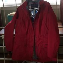 Outdoor Hooded Beadnell Jacket- Red Nwt Photo