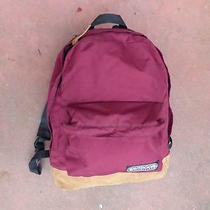 Outdoor Products Leather Bottom Backpack Burgundy Cordura Photo