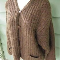 Oversized Express Tricot Mohair Acrylic Sweater British Hong Kong Womens Small Photo