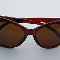 Oversized Vintage Inspired Super & Bold Retro Cat Eye Sunglasses -Red Brown Photo