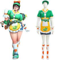 Overwatch Ow New Skin Meiling Zhou Cosplay Costume Honeydew Halloween Full Set Photo