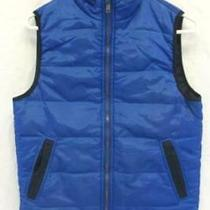 P.s From Aeropostale Children's Puffer Vest Blue 100% Cotton Unisex Size 14 Photo