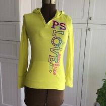 P.s. From Aeropostale Yellow Lightweight Pullover Hoodie Size Youth L Photo