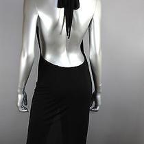 P1 Yigal Azrouel Nwot 1999 Black Open Back Halter Formal Evening Dress Size 1 Photo