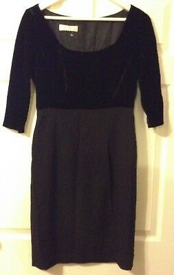 Paddy Campbell black colour dress- size 10-made in England Photo