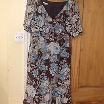 Paddy Campbell Silk Dress With Bow on Front   Size 12 Photo