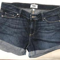 Paige Denim Jean Shorts  Dark Wash Size 29 Photo