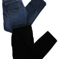 Paige Denim Womens Mid-Rise Velvet Denim Skinny Jeans Black Blue Size 29 Lot 2 Photo