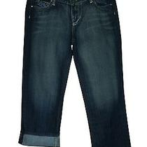 Paige Jeans Size 28 Laurel Canyon Crop Tuscan Dark Blue Denim Womens Photo