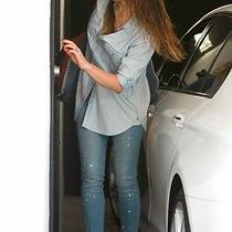 Paige Paint Splatter Jeans-Addison Wash New Wt Size 26 Photo