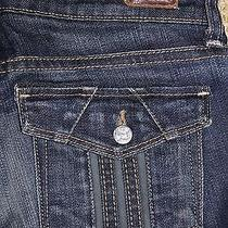 Paige Premium Denim Cloverdale Jeans W/ Flap Pocket in Dark Tuscan Wash 25 Photo