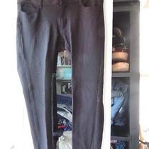 Paige Size 28 Black Knit Legging Style Skinny Leg Pants  Photo