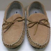 Pair of Minnetonka Suede Moccasin Slippers Size 11 1/2 Photo