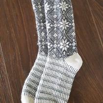 Pair of Womens J Brand Thermal Grey Fair Isle Socks Photo