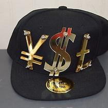 Paislee Ysl Studded Acrylic Snap Back Hat Nwt Photo
