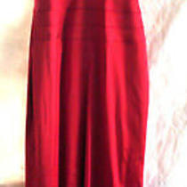Papell Boutique Evening Cocktail Party Womens Dress Red 8p Photo